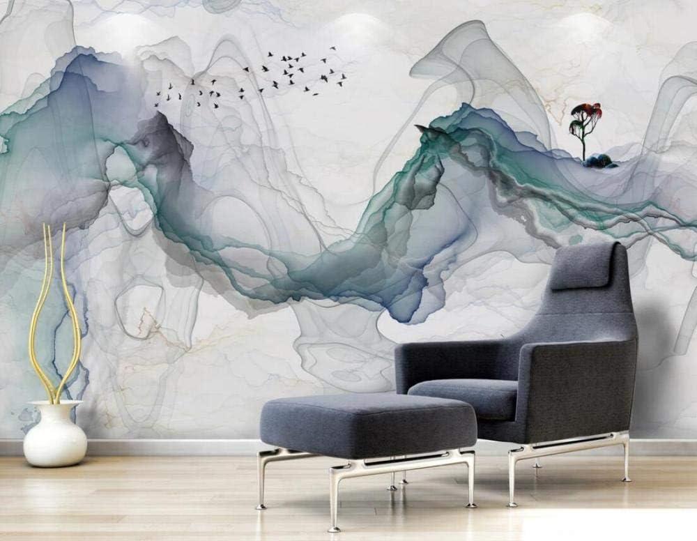 Papel Pintado 3D Concepto Art/ístico Zen Chino Tinta Abstracta Fotomural Moderno Papel Tapiz Custom Wallpaper Mural