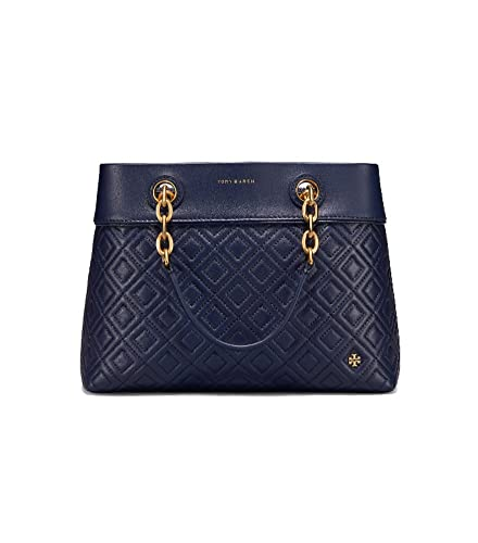 1cbd9606a8c Image Unavailable. Image not available for. Color  Tory Burch Women s Royal  Navy Fleming Small Tote Handbag