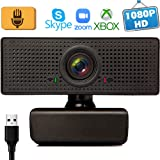 1080P HD Webcam with Microphone, Webcam for Gaming Conferencing, Meeting Laptop or Desktop Webcam, USB Computer Camera for Mac, Free-Driver Installation Fast Auto-Focus