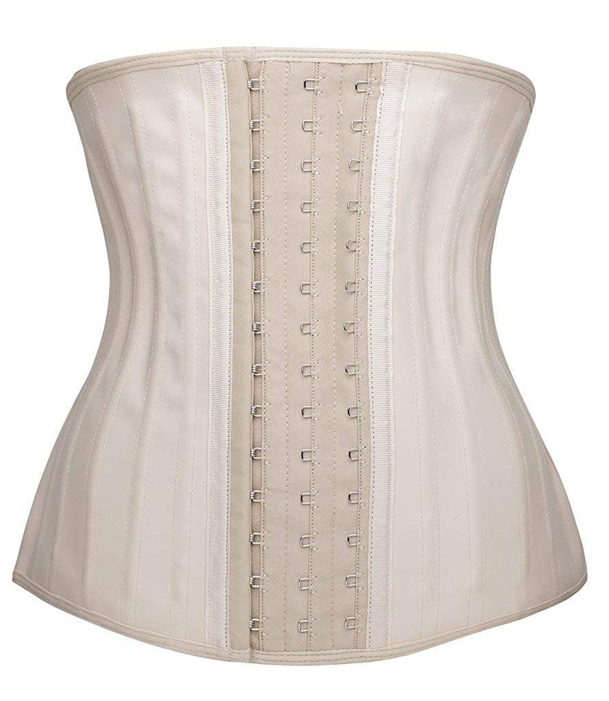 df6618f976b06 Camellias Women 25 PCS Steel Boned Latex Waist Trainer Workout Waist  Cincher Corset Body Shaper Shapewear