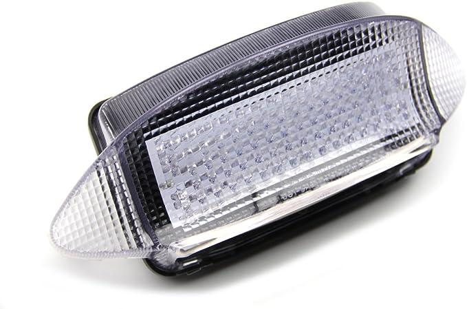 Led Bremslicht Mit Integrierten Blinker Für Honda Cbr 600 F3 1997 1998 Und Vaderaro Xlv 1000 1998 2004 Klar Auto