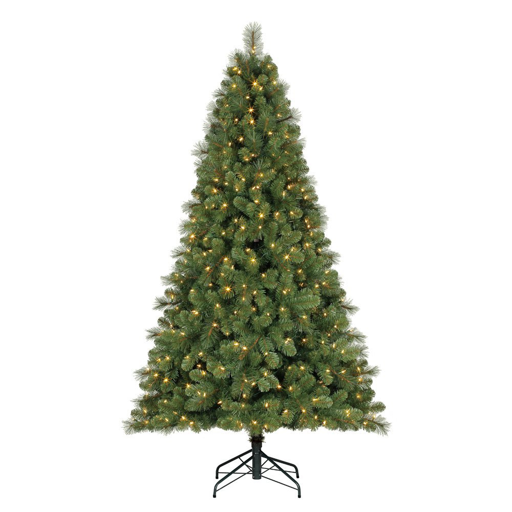 Home Heritage 9' Artificial Cascade Pine Christmas Tree w Color Changing Lights