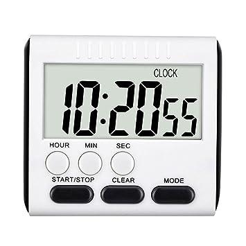 Temporizador de cocina digital, Reloj multifuncional de cocina Aolvo con dígitos grandes, Alarma fuerte