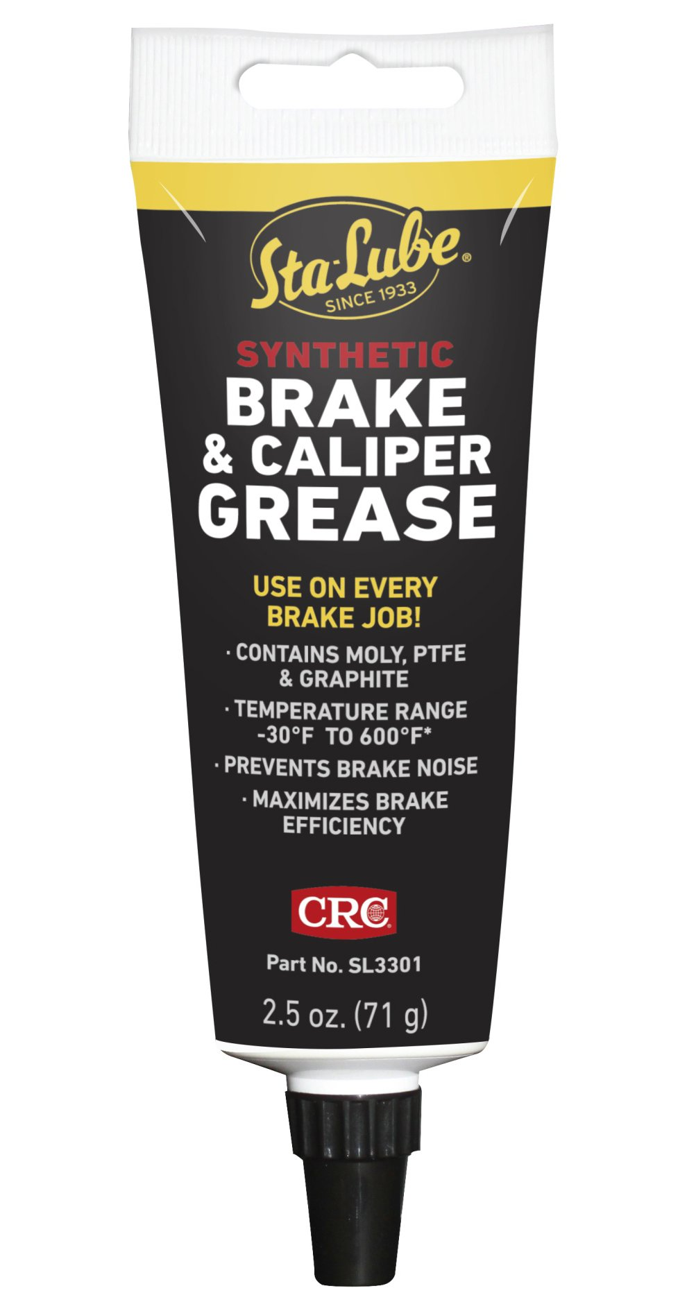 CRC SL33011 Synthetic Brake & Caliper Grease, 2.5 Wt Oz