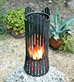 Fire pit ALBERO Fire basket 80002 Fire bowl 60 cm iron Fireplace Column