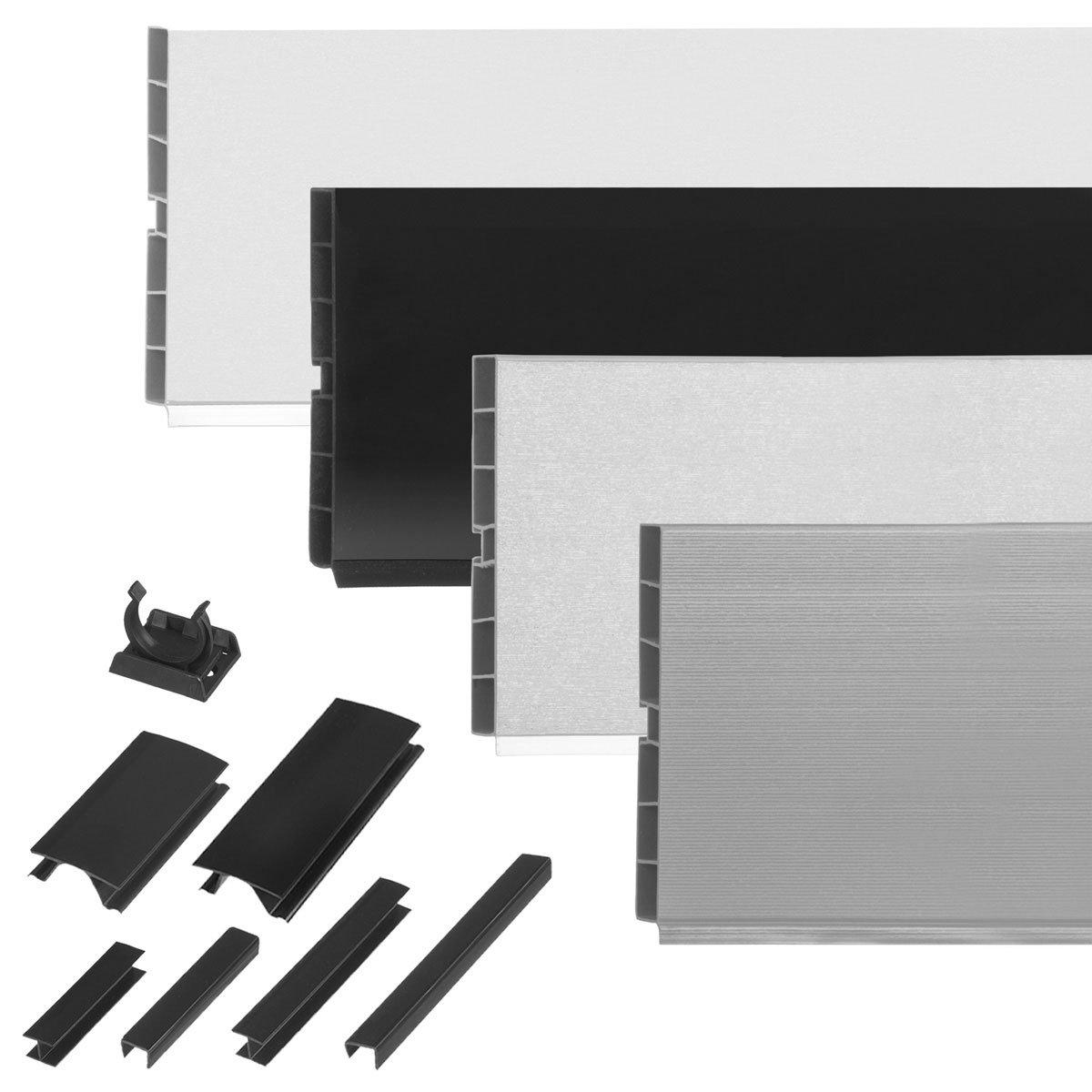HOLZBRINK Acabado para Base de Z/ócalo para Cocina de M/ódulos Altura 100 mm blanco alto brill HBK10