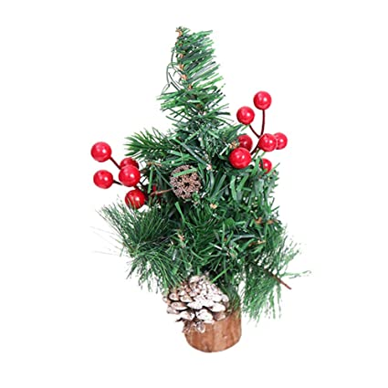 polytree mini christmas tree desk top table top ornament decorations xmas gift holiday party favourite red - Polytree Christmas Tree