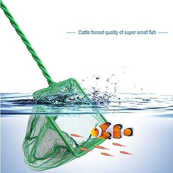 LEENY® Accesorios para Acuarios 7 Piezas, Bolsa de Red de Pesca con Mango en Espiral, Redes de Pesca Pecera para Peces de Acuario, Robusto y Duradero: ...