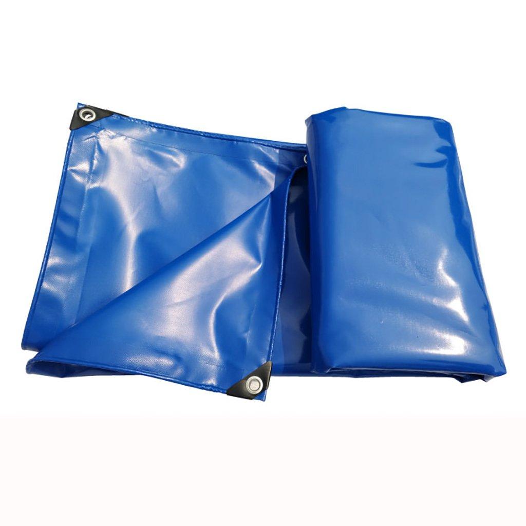 Im Freien Hochfeste Starke PVC-regendichte Autoplanenfrachtgartenplanenisolierung der Plane tragbar, haltbar, Seeblau (Farbe : A, größe : 3  8M)