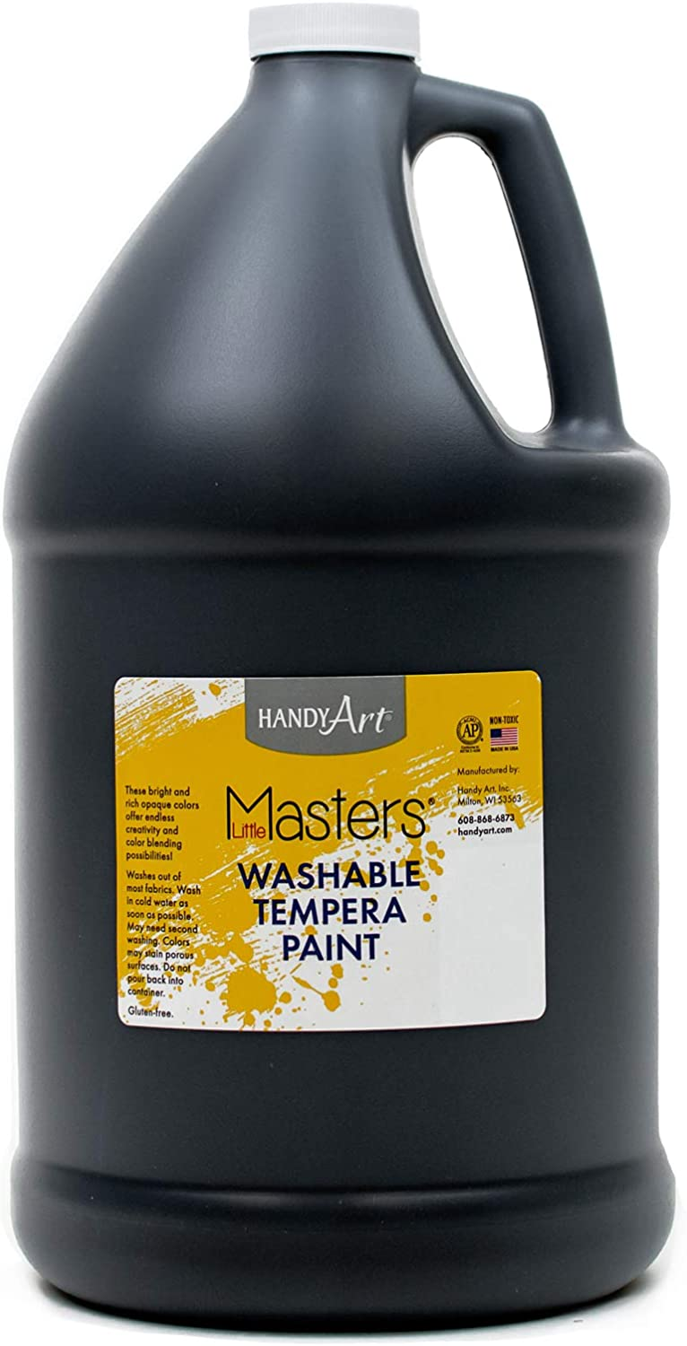 Handy Art Little Masters Washable Tempera Paint, Gallon, Black: Arts, Crafts & Sewing