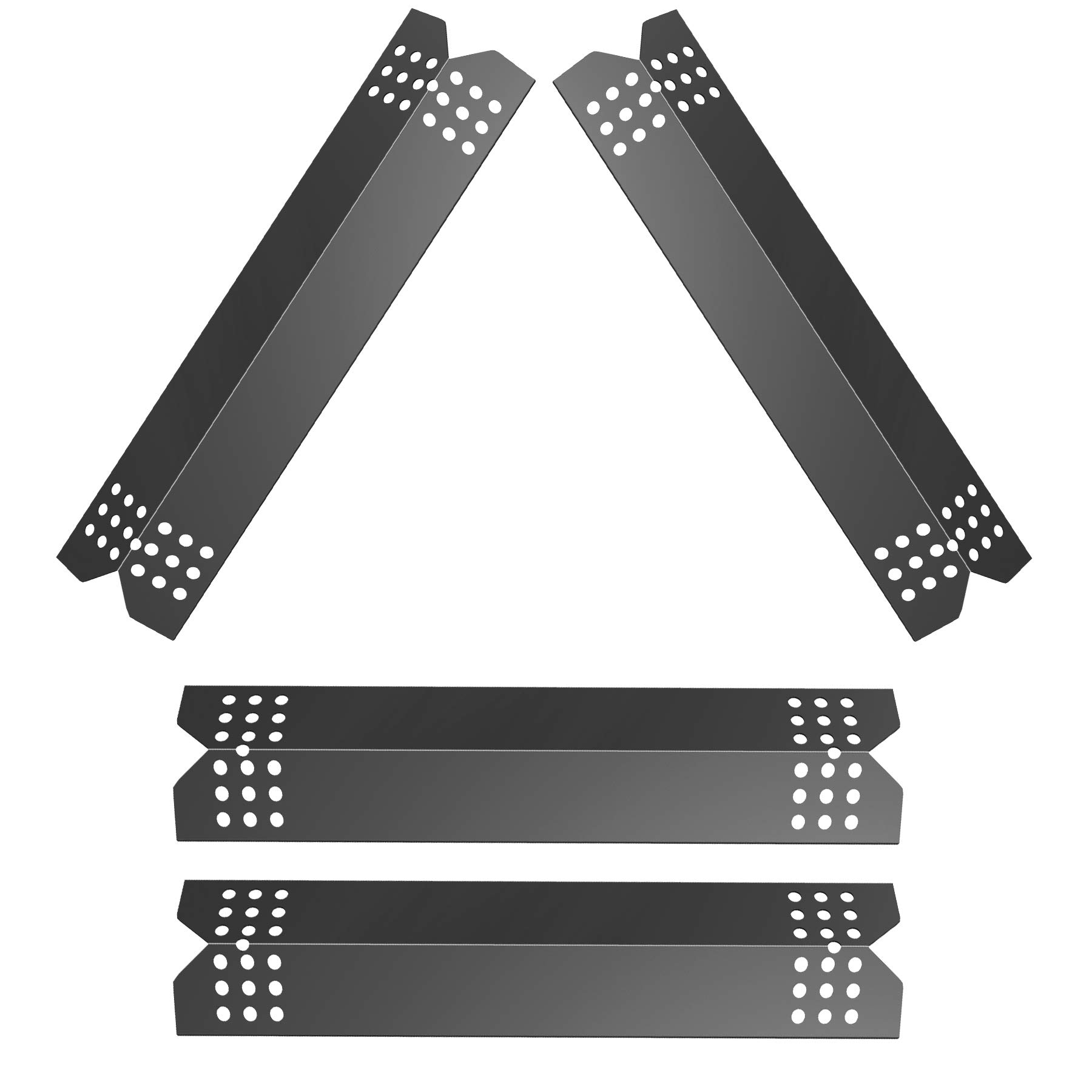 GASPRO 4-Pack Grill Flame Tamer for Nexgrill Replacement Parts 720-0830h 720-0783e, 14 9/16 x 3 3/8'' Heat Plate for Grill Master 720-0697 720-0737 Grill Parts,Kenmore Heat Shield Tent BBQ Burner Cover