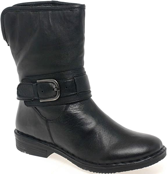 33bd322d4291 Lotus Matterhorn Wide Fit Leather Ankle Boots Black Leather 5.0 ...