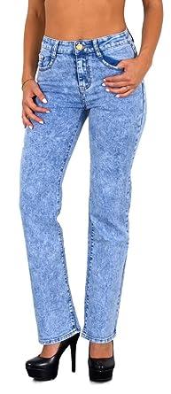 50d8e63dc5fe by-tex Damen Jeans Damen Röhrenjeans Damen Hose Hochbund in vielen Designs  bis Übergröße Gr