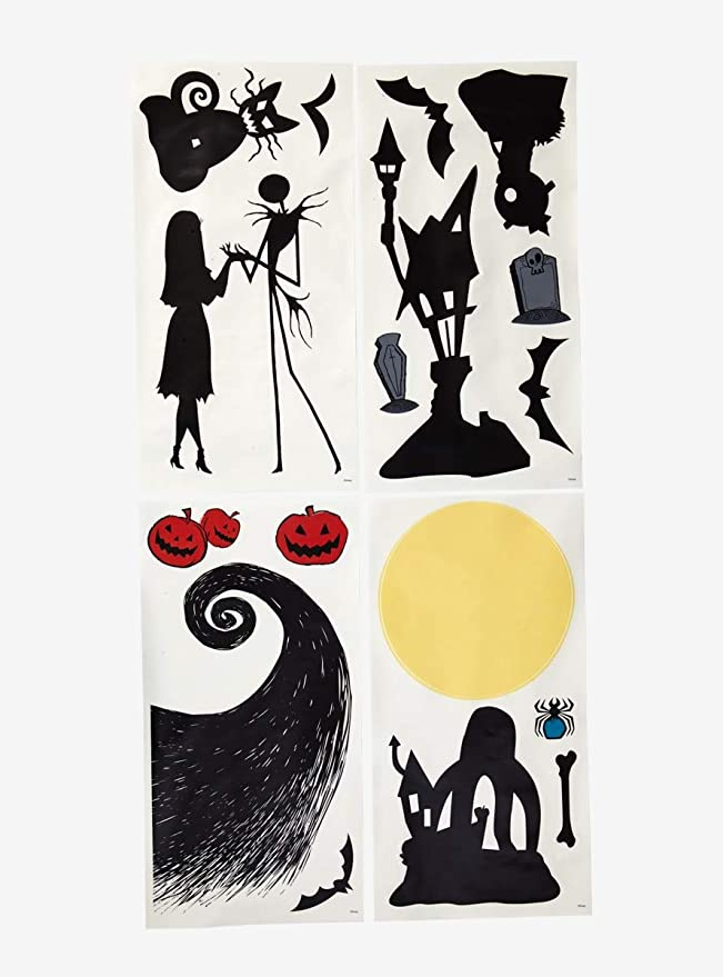 Ultimate Nightmare Before Christmas Silhouette Decal Set