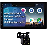 Double Din Car Stereo 7 inch Touchscreen Android 9.1 Car Radio with Bluetooth/FM/WiFi/GPS MirrorLink CarPlay 1G/16G Car…