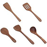 HJKL Wooden Kitchenware Set,Wooden Cooking Tool,Wooden Long Handle Spatula Rice Scoop Cooking Shovel Mixing Wooden…