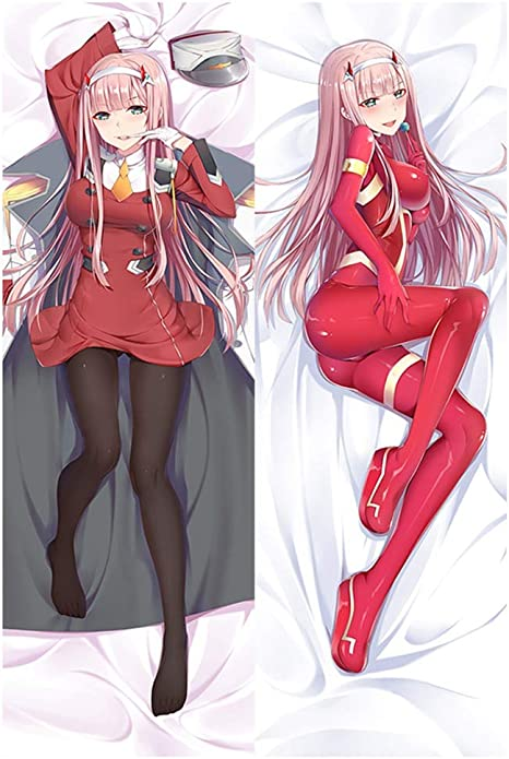 Elibeauty Darling In The Franxx Zero Two Pillowcase Anime Characters Double Sided Decorative Pillow Cover Home Sofa Decor Gift For Anime Fans M 2way Gwerahumichon