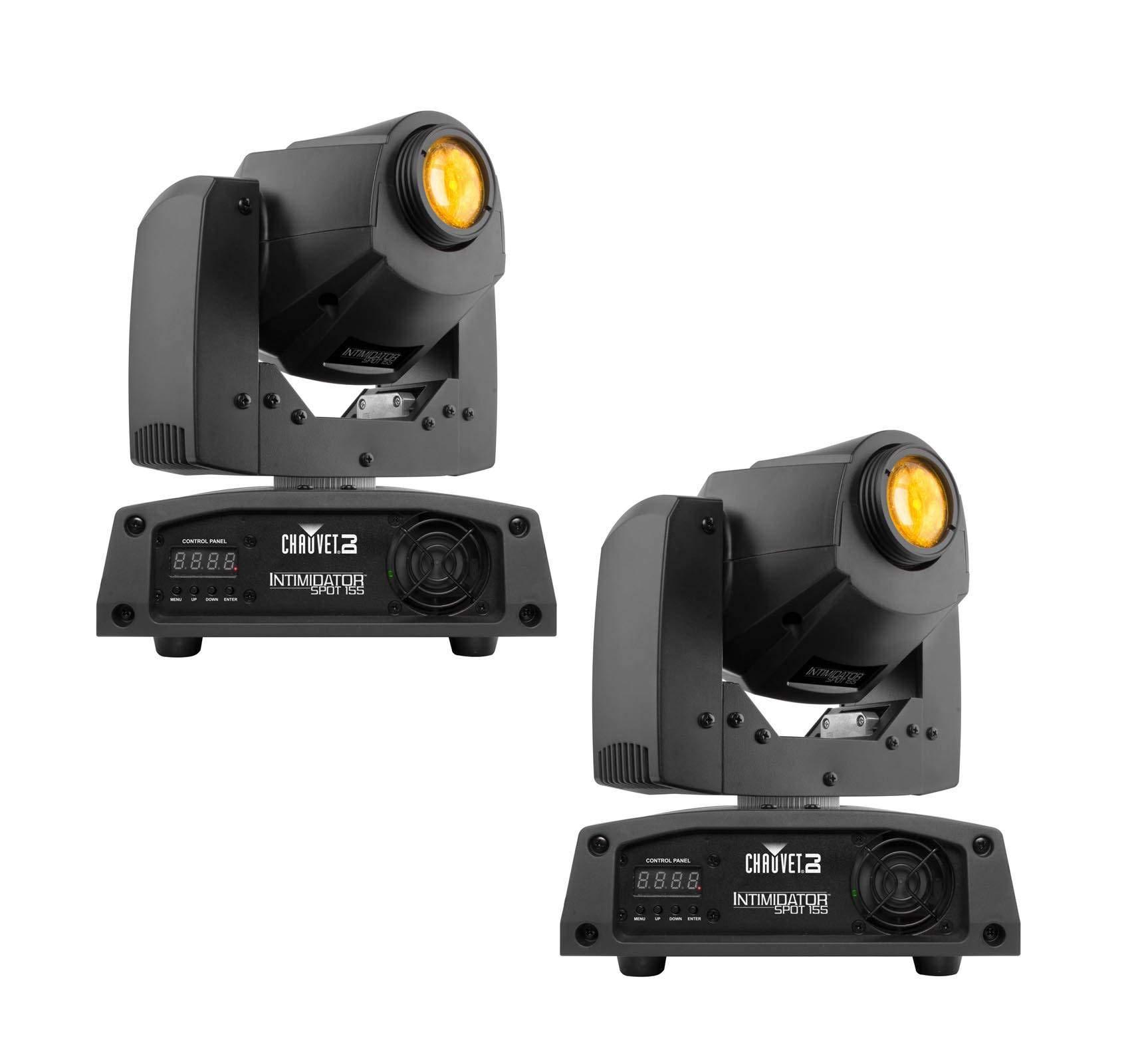 2 CHAUVET Intimidator Spot 150 LED DMX Moving Head Yoke DJ Club Lighting Effects by CHAUVET DJ