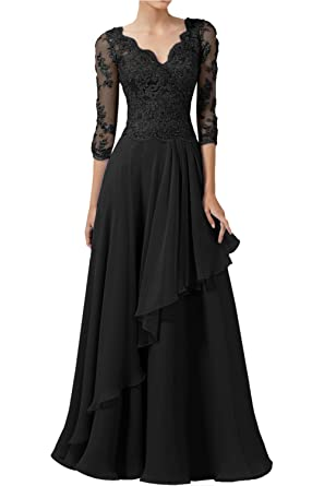 4096ee079f9 DINGZAN 2018 Wedding Guest Mother Of The Bride Dresses With Half Sleeves  Long Prom Gowns 2