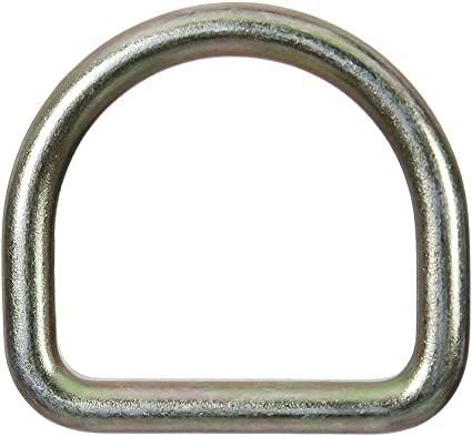 Fusion Climb Moc 4 Drop Forged Heavy Duty Carbon Steel D-Ring Gold for 3 Webbing 5-Pack