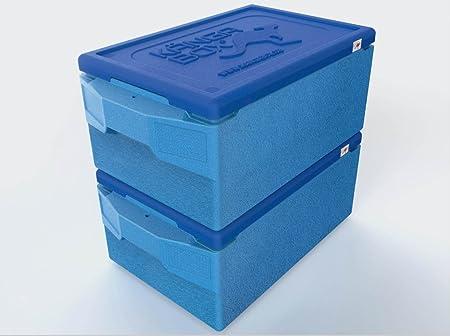 getgastro Thermobox Fresh Blue - Caja térmica para Pizza (67,5 x 40 x 29 cm, para Transporte GN 1/1, 39 L): Amazon.es: Hogar