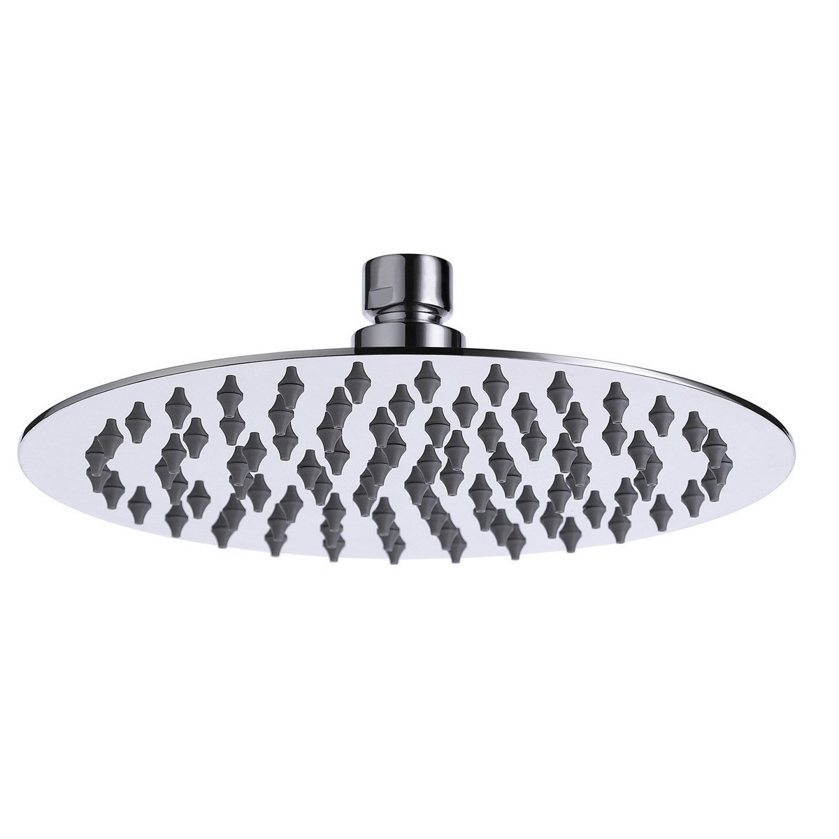 Coby Stainless Steel High Pressure 8'' Round Rain Shower head - Adjustable Metal Swivel Ball Joint - Best Relaxation and Spa
