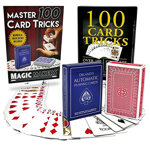Magic Makers 100 Card Tricks Kit Includes Marked Deck & Svengali Trick Deck