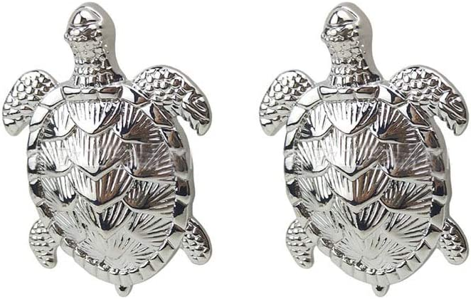 Laide Ocean Turtles Dresser Knobs Zinc Alloy for Drawer Cabinet Door Pull Handles Home Beach Sea Theme Home Decor 2 Pieces (Silver)