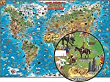 World and United States Double Illustrated Map Set