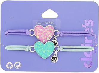 Claires Pastel Unicorn Stretch Friendship Bracelets Bracelets 3 Pack Blue/Pink/Purple
