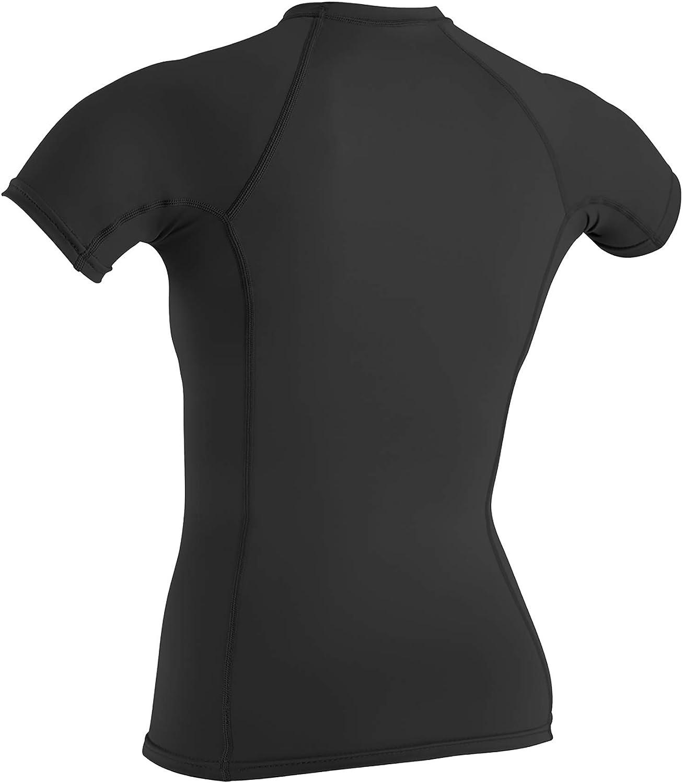 Schwarz ONeill Wetsuits Damen Uv Schutz wms basic skins S//S crew Rash Vest S