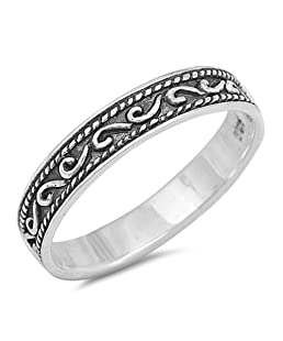 CloseoutWarehouse Sterling Silver Eternity Symbol Band Ring Size 6