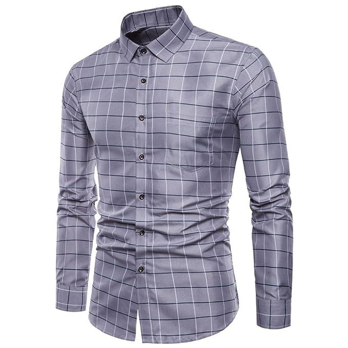 Longra Herren Premium Business-Hemd Slim-Fit Männer Hemden für Freizeit,  Business und dbfd74a5ba