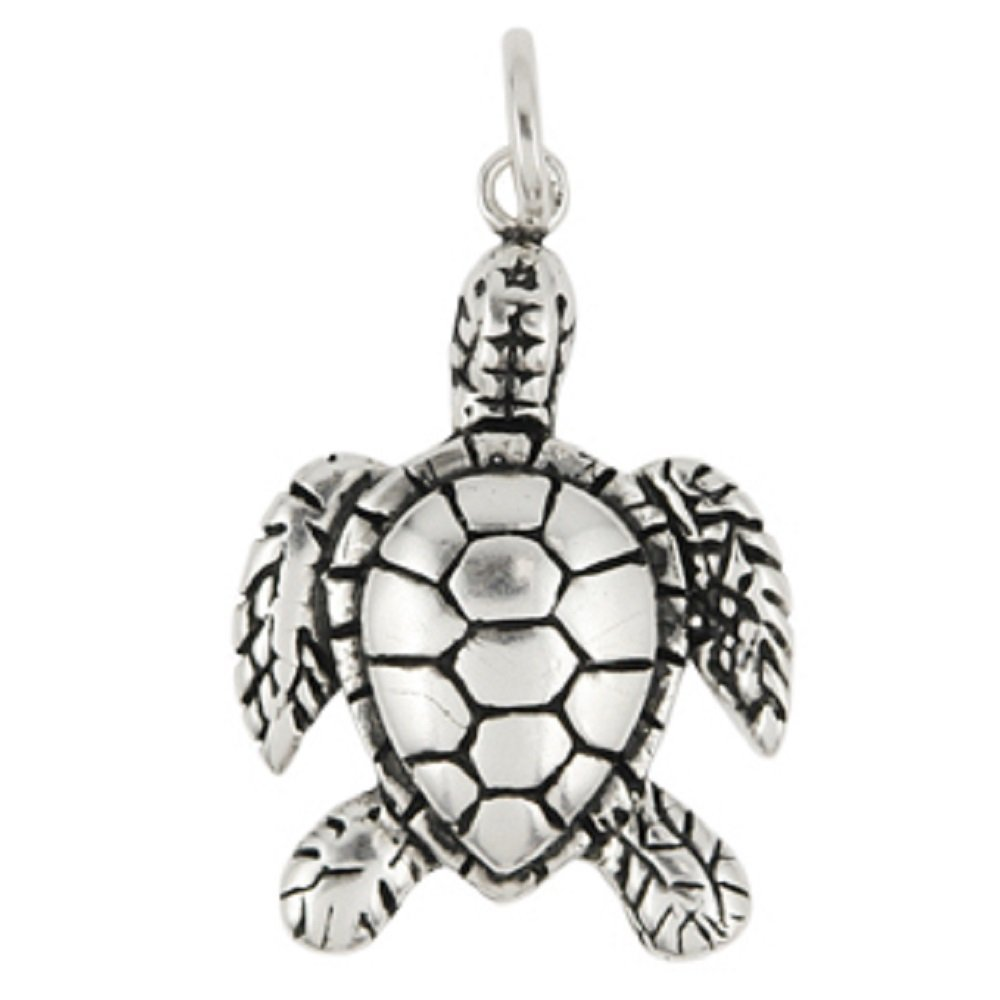 CloseoutWarehouse Sterling Silver Sea Turtle Charm