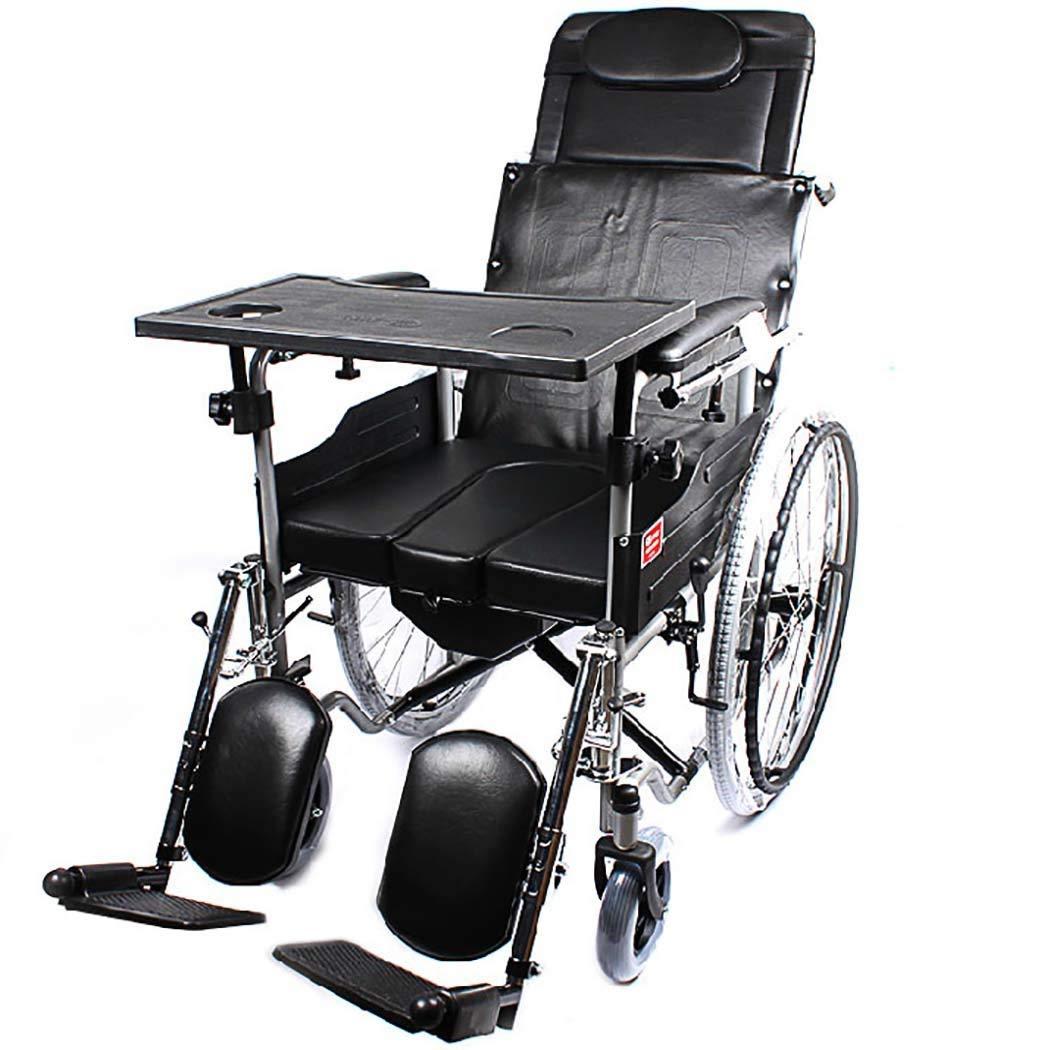 DPPAN Drive Medical Transport Silla de ruedas Reposapiés elevables para tubos de acero plegables, fuertes y resistentes, con cubeta de inodoro,18