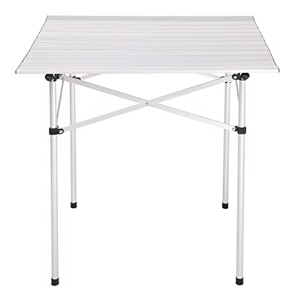 kemanner enrollable de aluminio portátil mesa plegable Camping ...