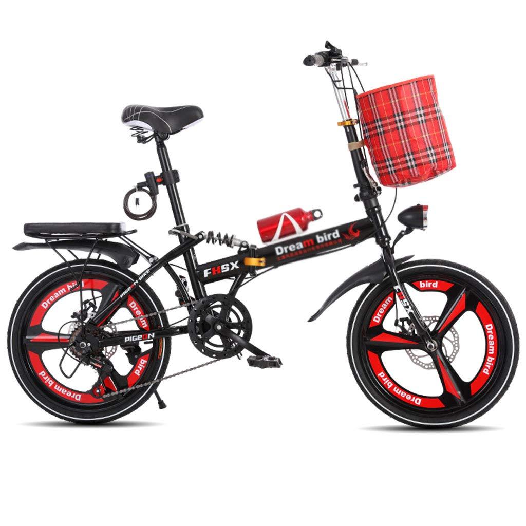 折りたたみ自転車 自転車折畳み式ディスクブレーキ20インチ衝撃吸収ユニセックス超軽量ポータブル折りたたみ自転車 (Color : Red, Size : 150 * 35 * 110cm) B07JC52865 150*35*110cm|Red Red 150*35*110cm