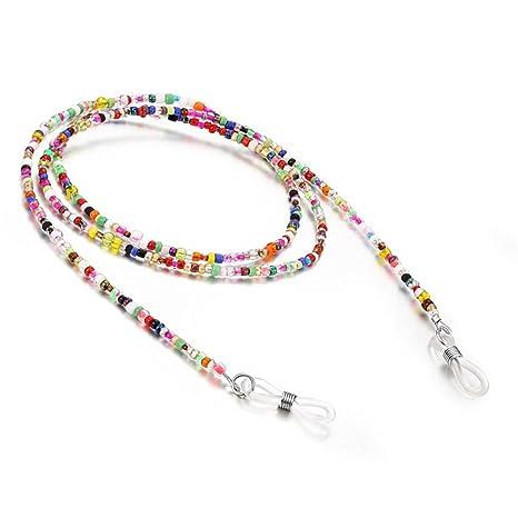 8d9209ec1c2d Glasses Chain, Decorative Eyeglasses Chain, Eyewear Retainer Multicolour  Beaded Spectacles Sunglass Holder Glasses Cords