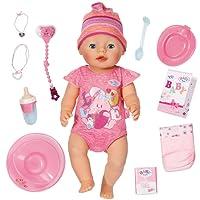 Zapf Creation Muñeco Baby Born Interactivo niña con Accesorios, Color Rosa Claro, 40.1 x 36.1 x 19.3 (822005)