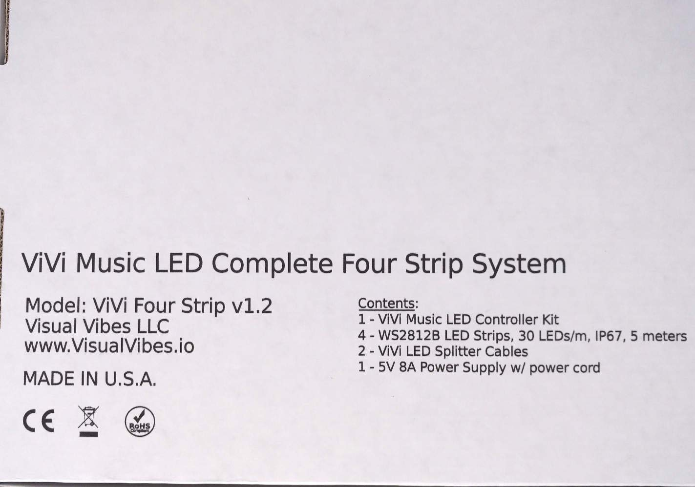 ViVi Music LED Controller 4 Strip Lighting System featuring VibeSync  Technology - Professional Addressable LED Controller