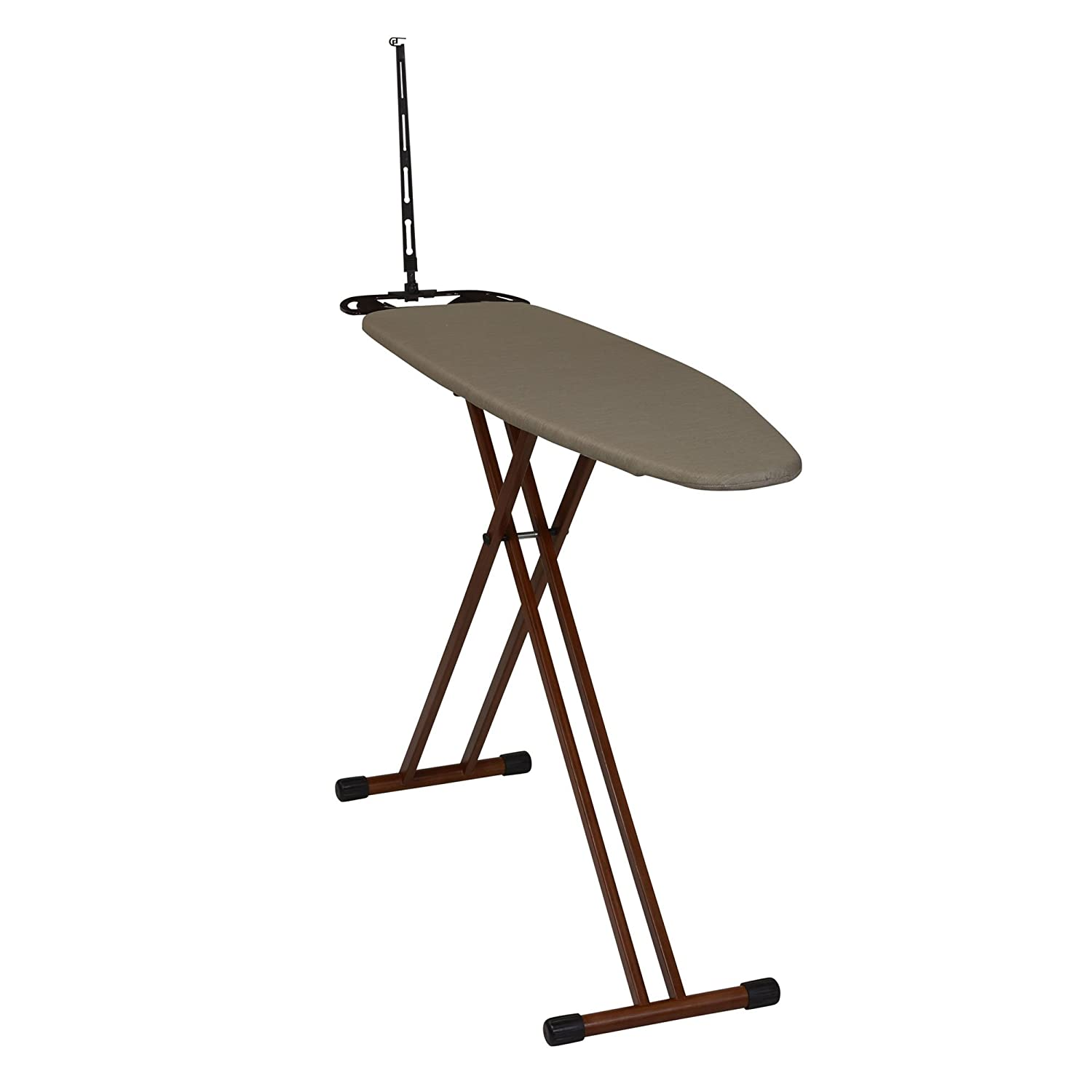 Household Essentials Eucalyptus Tri-Leg Ironing Board with Iron Rest and Cord Minder 885414-1