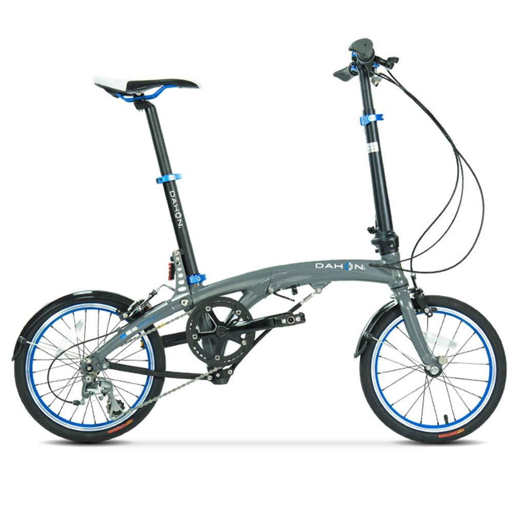 折りたたみ自転車 自転車折りたたみ自転車16インチ可変速度アルミニウム合金ユニセックス超軽量自転車 (Color : Blue, Size : 150 * 30 * 108cm) 150*30*108cm Blue B07JC3BVN7