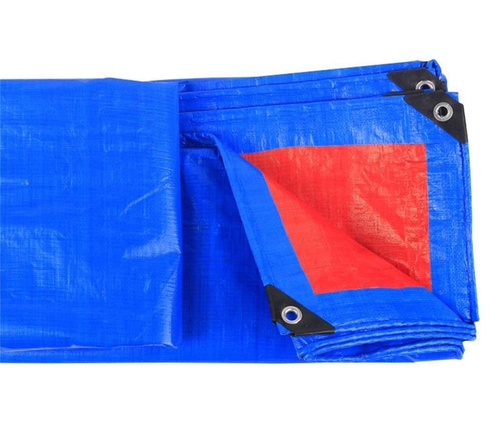 GLP3 Im Freien Starkes Planen-Planen-Schatten-Wasserdichte Sonnenschutzmittel-Plane-Plane-Blau + Rot (Größe : 8MX10M)