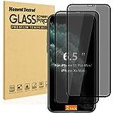 Designed for iPhone 11 Pro Max Screen Protector Tempered Glass,iPhone Xs Max Screen Protectors,Privacy Anti-Spy [Case Friendl