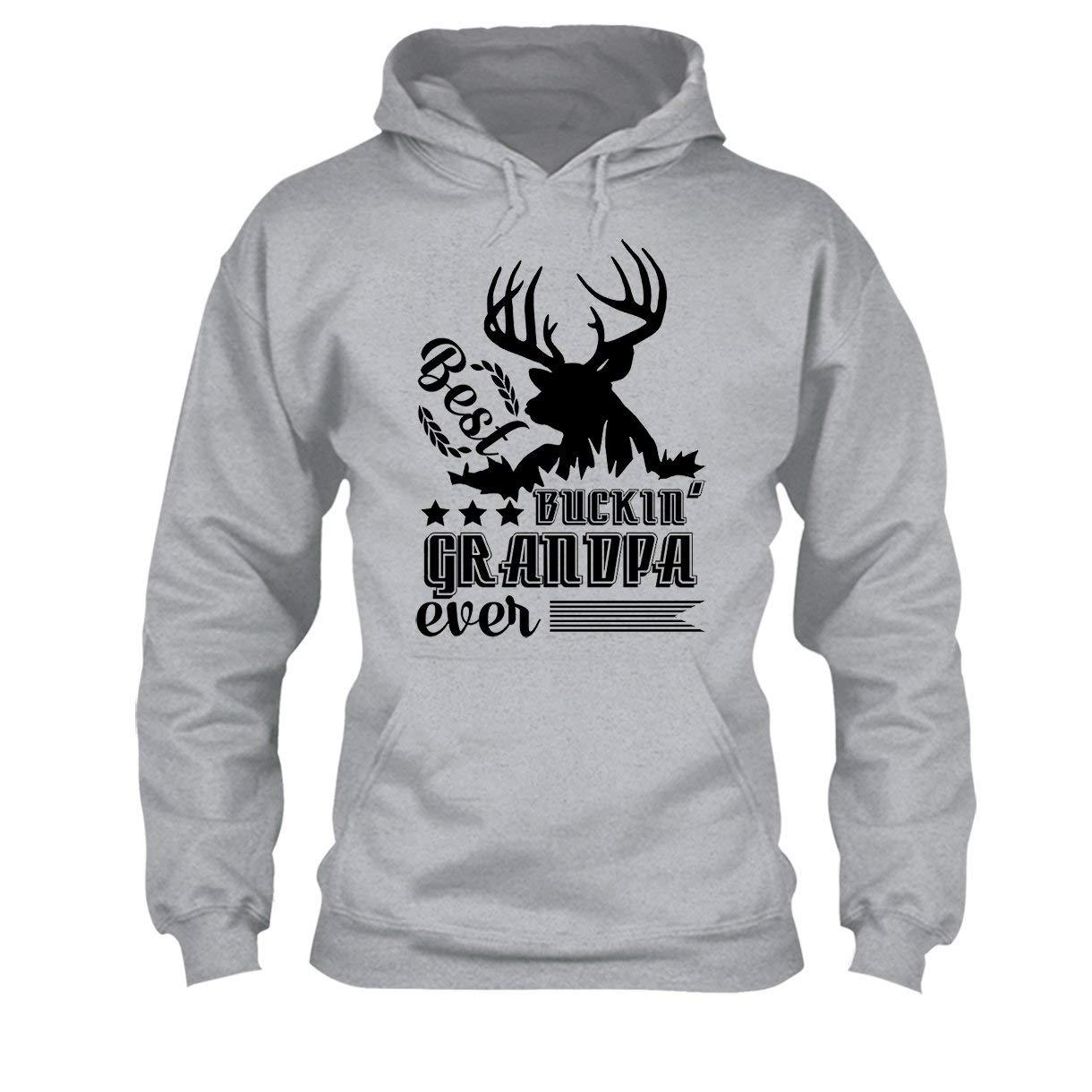 Hunting Best Buckin Grandpa Ever Tee Shirt Cool Long Sleeve Shirt