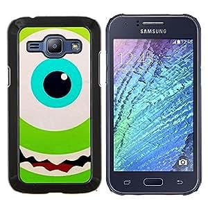 LECELL--Funda protectora / Cubierta / Piel For Samsung Galaxy J1 J100 -- Ojo verde Happy Kids Cartoon --