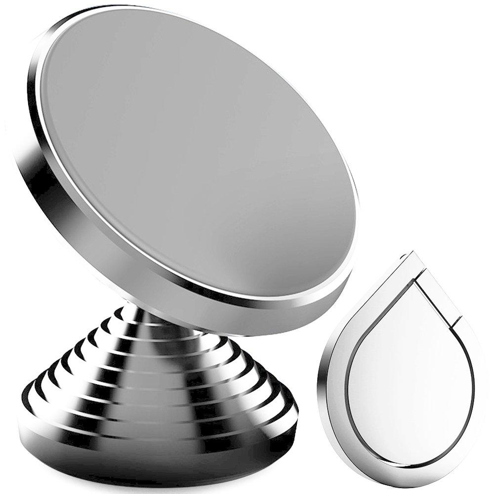 IHUIXINHE Support Voiture Magnétique Support Téléphone Voiture avec la Rotation à 360 Degrés Compatible avec Tous Les Appareils à Largeur Universel pour iPhone X 8 7 6 6S Plus Galaxy S6 Note UCM-1