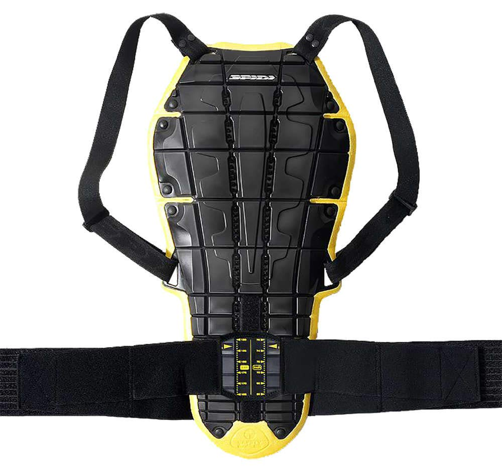 Spidi Z140-016 Motorcycle Safety Protection Back Warrior Evo, Black/Yellow, Large SPIDI Sport S.r.l. (EU)