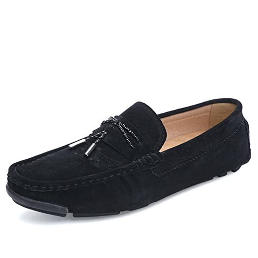 Mens Loafers Tassle Style Pendant Suede Hollow Driving Shoe