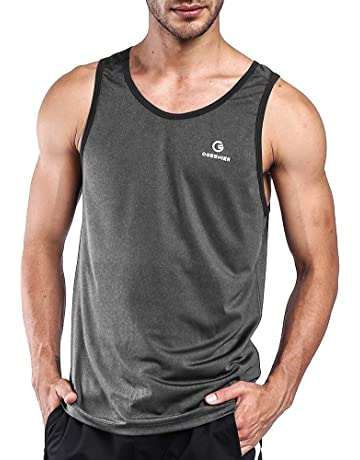 e205b451 Ogeenier Men's Training Quick-Dry Sports Tank Top Shirt for Gym Fitness  Bodybuilding Running Jogging